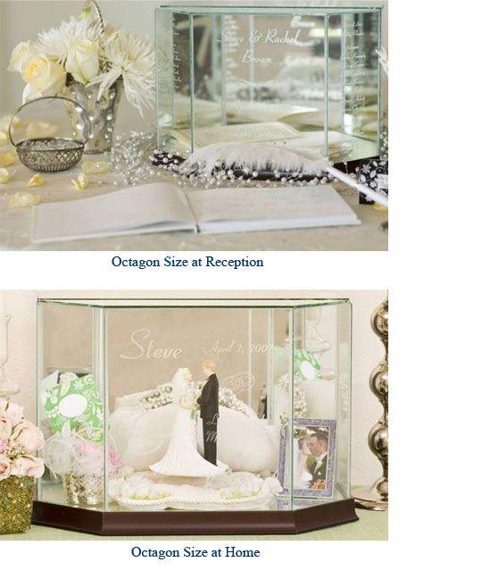 Website: www.WeddingsAreFun.com  Glass Wedding Card Boxes