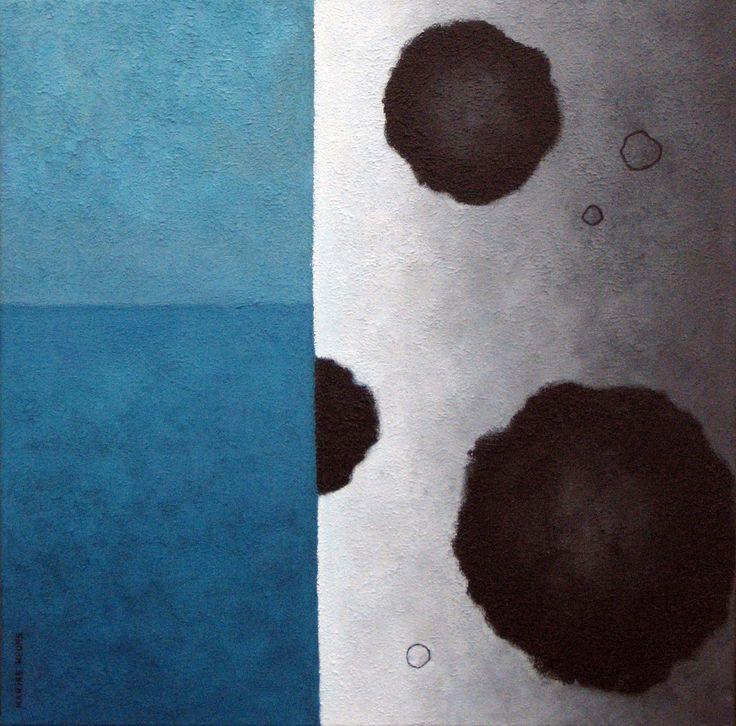Dot-tree  - acryl on canvas - 50x50 cm - Marike Meurs