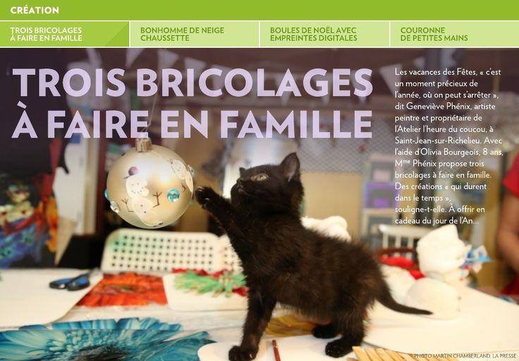 Trois bricolages à faire en famille - La Presse+