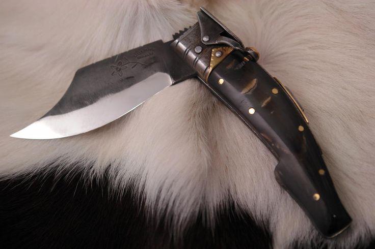 Foggia antica in muflone coltello sardo collezione - Coltelli a Serramanico - Coltelli