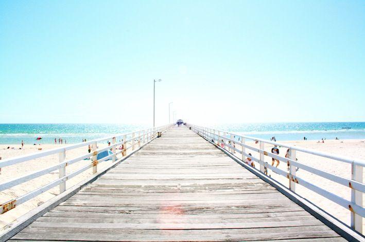 White Australian beaches beneath unspoiled blue skies