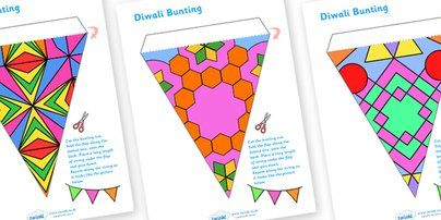 Twinkl Resources >> Diwali Bunting  >> Classroom printables for Pre-School, Kindergarten, Primary School and beyond! diwali bunting, bunting, celebration, diwali, religion, hindu, hanoman, display, photos, pictures, rangoli, sita, ravana, pooja thali, rama, lakshmi, golden deer, diva lamp, sweets, new year, mendhi, fireworks, party, food,