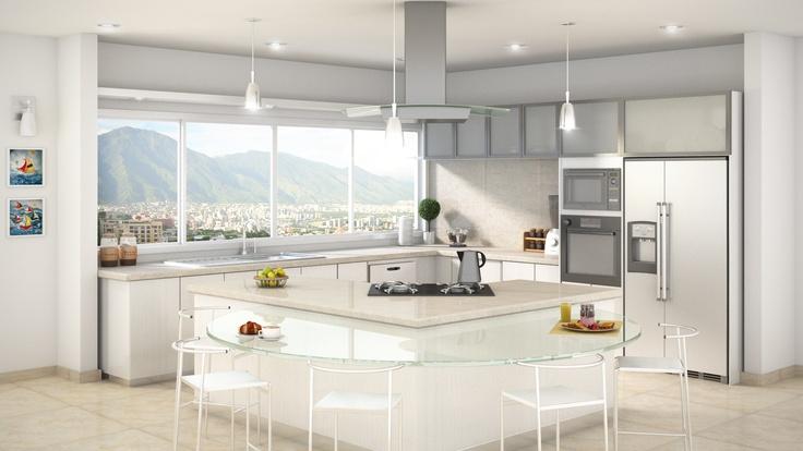 Cocina 3D studio max - vray - Photoshop