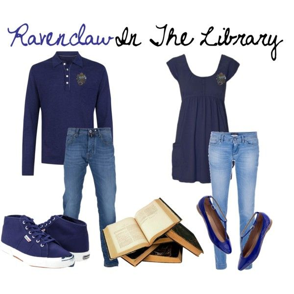 Ravenclaw In The Library, created by nearlysamantha on Polyvore
