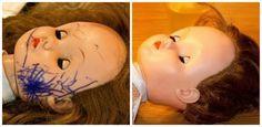 Enlever les traces de stylo sur une poupée en plastique