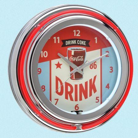 Neon veggklokke Coca Cola fra Ruth66. Om denne nettbutikken: http://nettbutikknytt.no/ruth66-no/