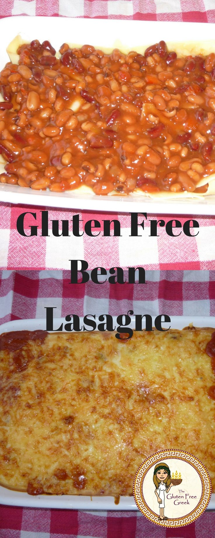 Easy gluten free bean lasagne recipe! Check out my blog for the recipe.