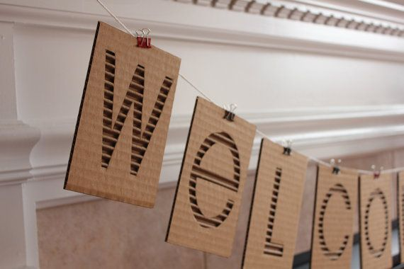Custom cardboard banner priced per letter to be the o for 24 cardboard letters