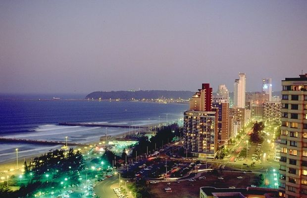 The coastal city of Durban