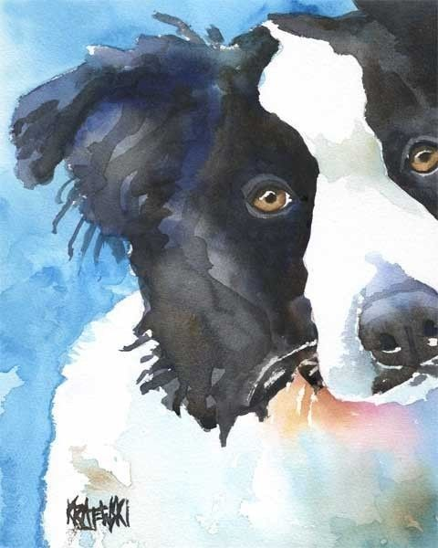 Love water colors and I love Dogs! Especially Border Collies!!