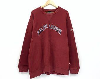 Rare!!Vintage Polo Ralph Lauren Sweatshirt Biglogo Spellout Pullover Jumper Hiphop Streetwear thug life