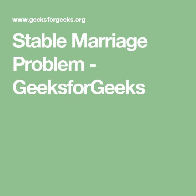 Stable Marriage Problem - GeeksforGeeks