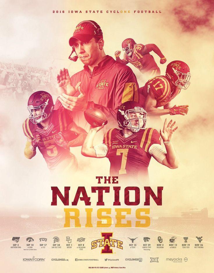 2016 Iowa State Football Poster