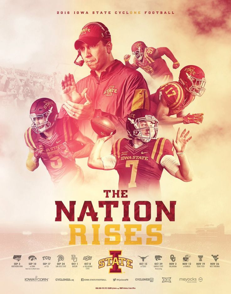 2016 Iowa State Football Poster