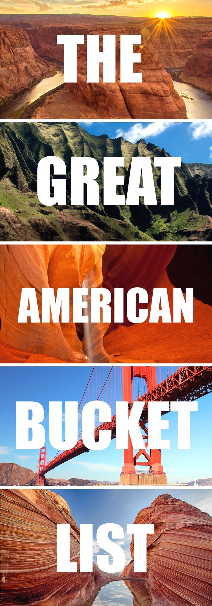 The Great American Bucket List | travel | Pinterest | Buckets, United states and Park