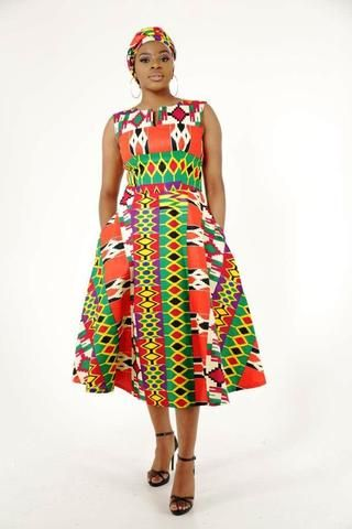 Zenab Kente African Dress - HouseOfSarah14