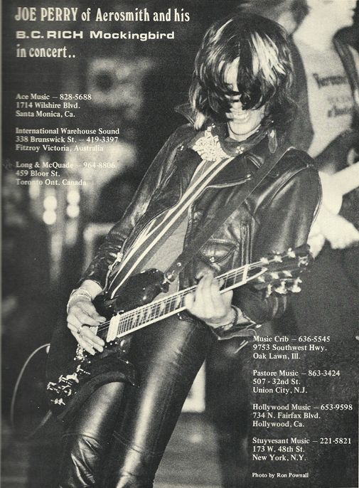 ad joe perry for bc rich joe perry magazines and