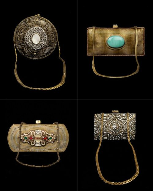 Pretty, intricate, hand-crafted purses by Malaga and Twisha & Alisha Chinai (via Exclusively In)