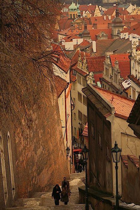 Prague, Czech Republic: Photos, Stairs, Czechrepubl, Beautiful, Places I D, Castles, Prague Czech Republic, Travel, Ancient Street