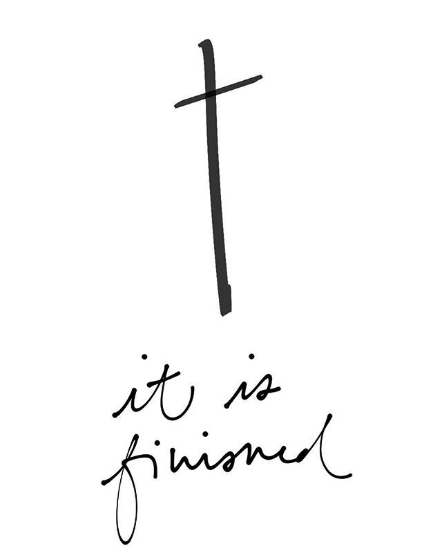 WEBSTA @ elizabeth.edmiston.paper - G O O D  F R I D A Y :: Every sin has been paid for, every evil deed judged, and the full and total price of our redemption purchased at the cross. #itisfinished #goodfriday