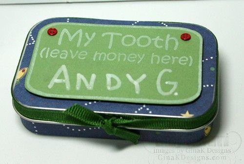 tooth fairy box  aka altoid tin: For Kids, Toothfairi Tins, Tins Ideas, Cute Ideas, Kids Crafts, Tins Crafts, Tins Boxes, Altoids Tins, Tooth Fairies