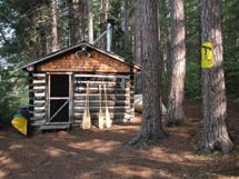 The Wenda Lake Cabin.. paddle to it from the Achray campground.. it's also near the Barron Canyon.