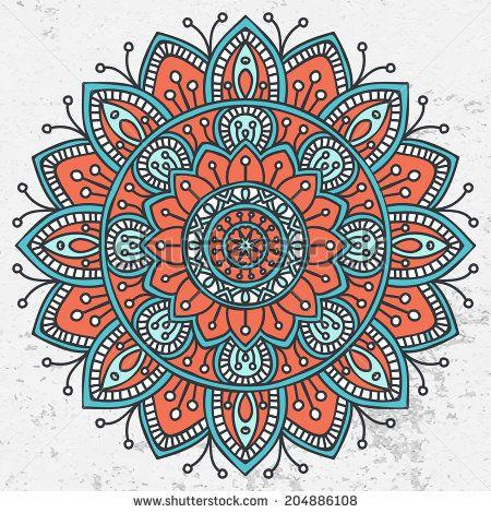 Mandala. Round Ornament Pattern. Vintage decorative elements. Hand drawn background. Islam, Arabic, Indian, ottoman motifs. - stock photo