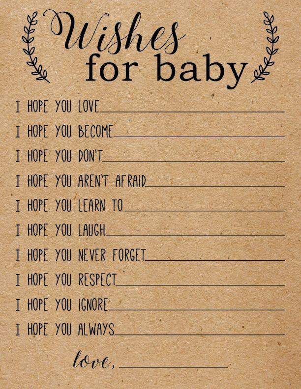 Bearbeitbare Baby Wish Cards, Wünsche für Baby-Karten, anpassbare Baby Beratung druckbare Instant Download, Baby-Dusche-Spiele,