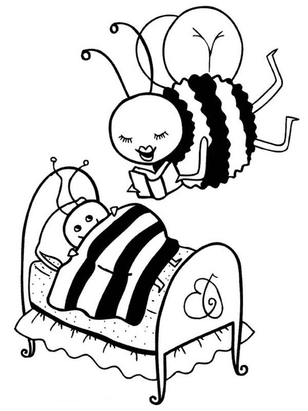 Bumblebee, : Mother Bumblebee Read a Story to Her Kid