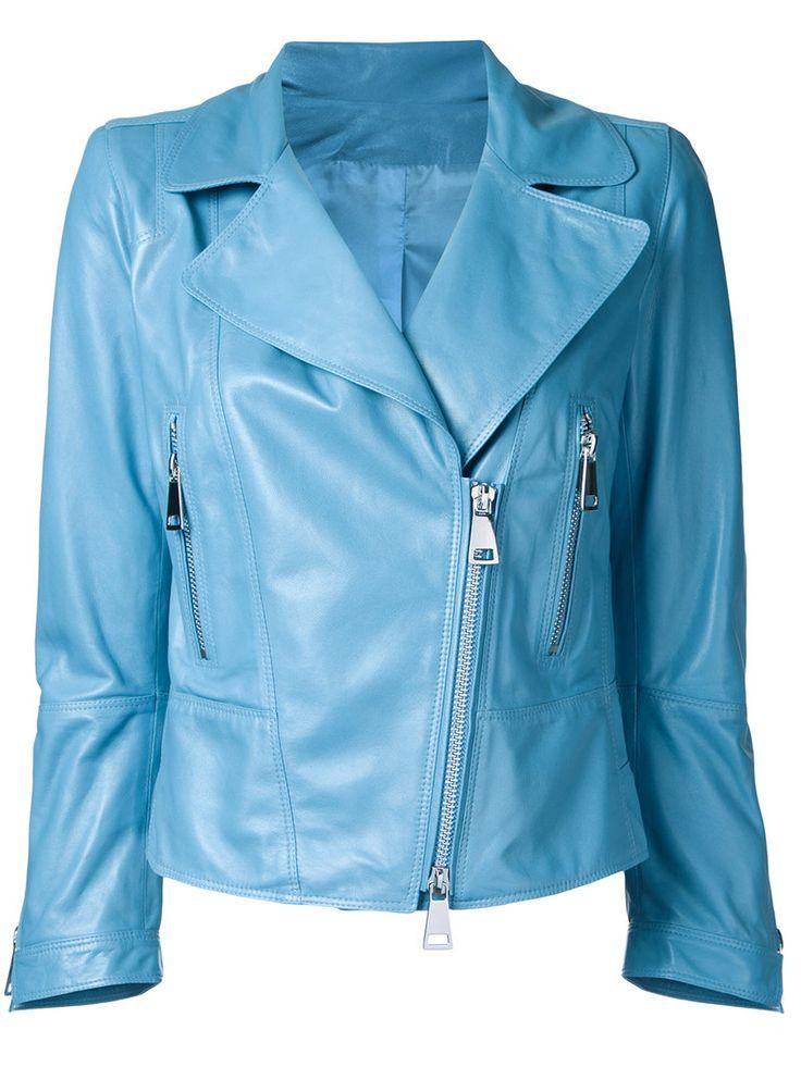 ¡Cómpralo ya!. Sylvie Schimmel - Zip Up Jacket - Women - Nappa Leather - 38. Blue nappa leather zip up jacket from Sylvie Schimmel. Size: 38. Gender: Female. , chaquetadecuero, polipiel, biker, ante, antelina, chupa, decuero, leather, suede, suedette, fauxleather, chaquetadecuero, lederjacke, chaquetadecuero, vesteencuir, giaccaincuio, piel. Chaqueta de cuero  de mujer color azul claro de SYLVIE SCHIMMEL.
