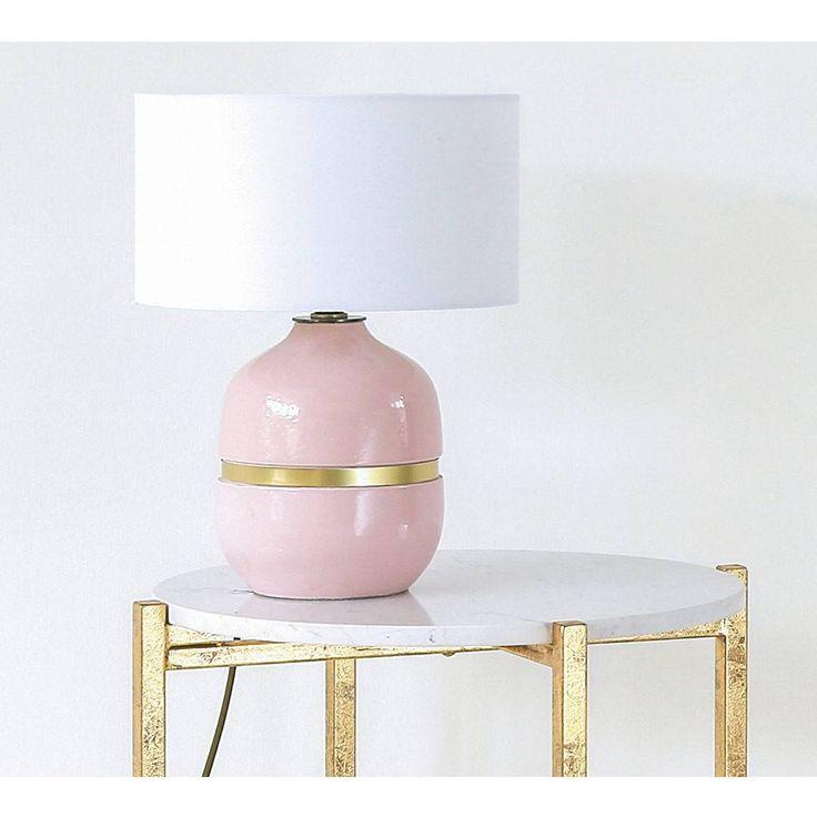 Layla's Macaroon Ceramic Blush Pink Table Lamp