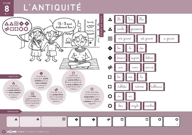 1 Enquete Sur Le Theme De L Antiquite Pour Laquelle Leseleves Doivent Reconstituer Une Phrase Mystere A Partird Indices Antiquite Activite Activite Maternelle