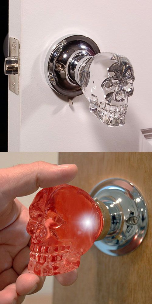 Light up dark areas as well as add a unique touch to your home with these handcrafted LED crystal doorknobs by Krystal Touch of New York.