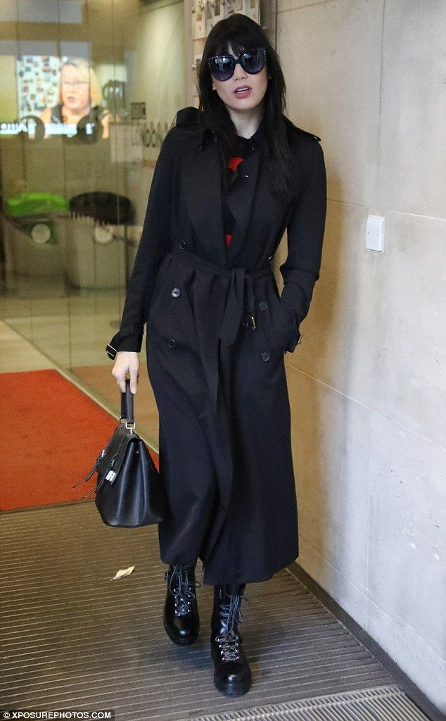Defiant: Daisy Lowe, 27, didn't appear fazed by Craig Revel Horwood's criticism as she arrived at BBC Radio 1 on Tuesday morning looking confident and stylish