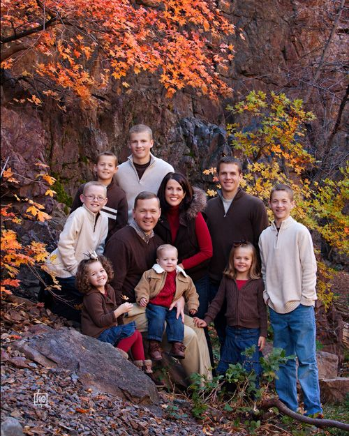 Fabulous fall! The photographer did a good job of hiding the one kid with the huge horizontal stripes