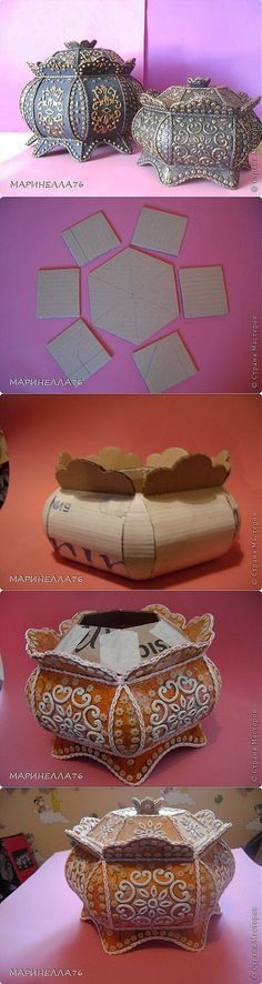 Cute as a box, but it could also make a cute little lampshade