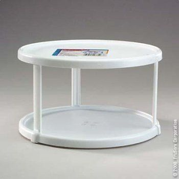 "Rubbermaid Turntable 10-1/2"" Dia. X 6"" H Plastic White"
