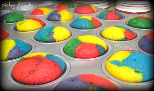 Rainbow Bright Cupcakes. Happy 2nd Birthday
