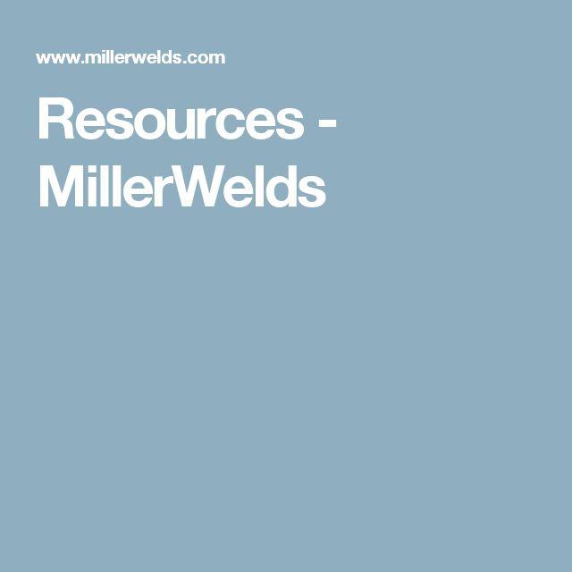 Resources - MillerWelds