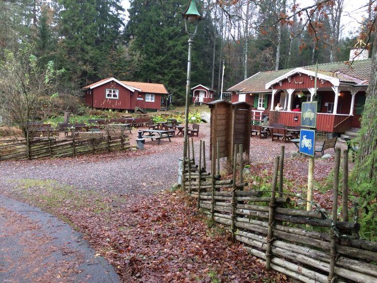 Brobacka Kaffestuga, Alingsås, naturreservat, våfflor, handverk, barnvänligt, 50-tals