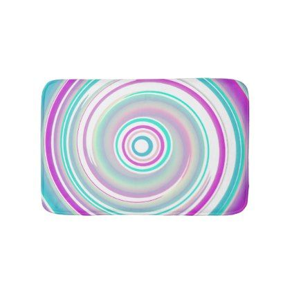 #Purple & Teal Swirl - Small Bath Mat - #Bathroom #Accessories #home #living