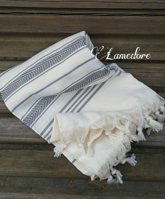 100% Cotton Peshtemal towels Traditional Turkish by LAMEDORE