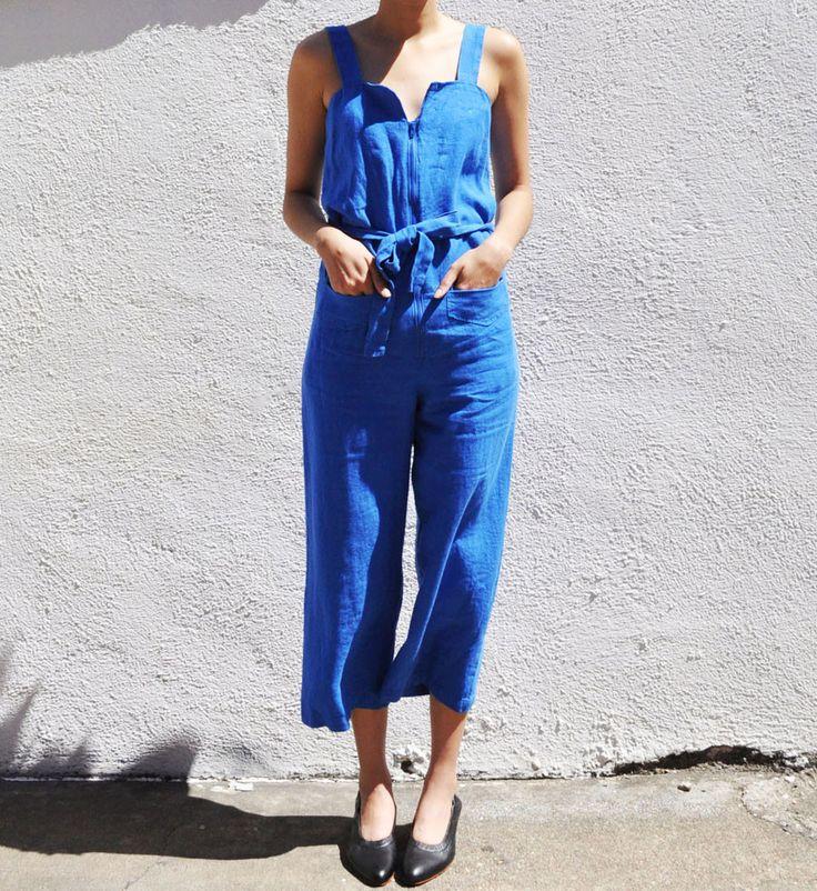 Rachel Comey Blue Blend Jumpsuit