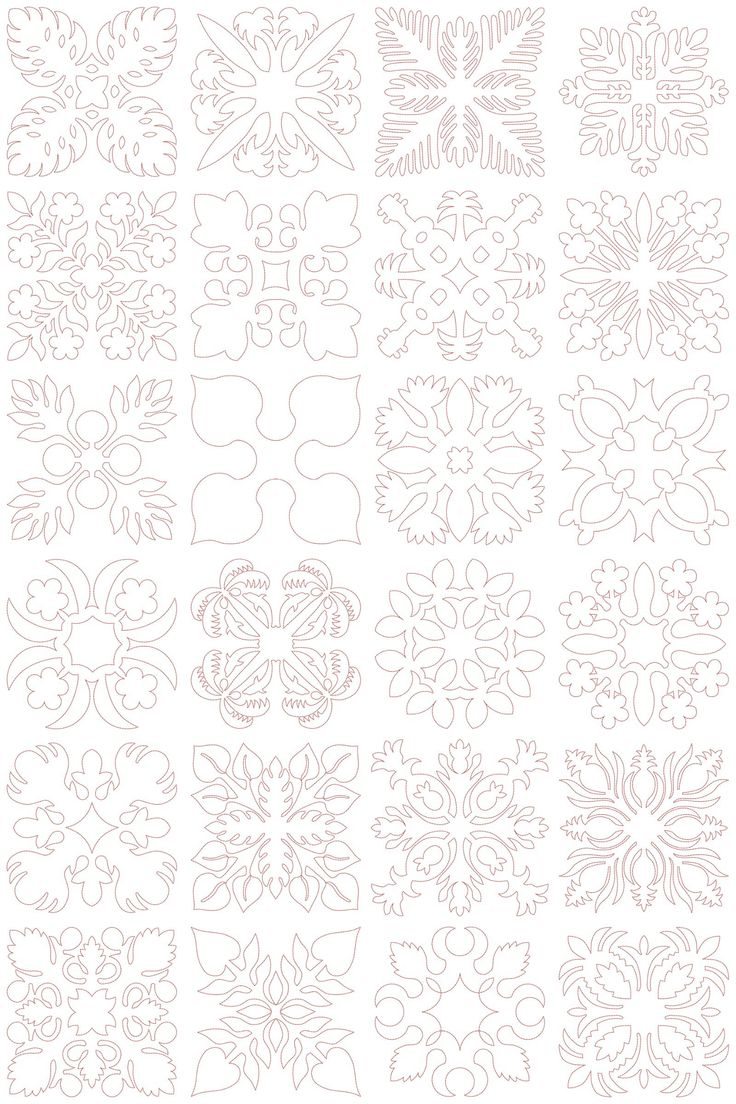Hawaiian Quilt Block Collection 1 (5x5) | Embroidery Delight | Your source for…