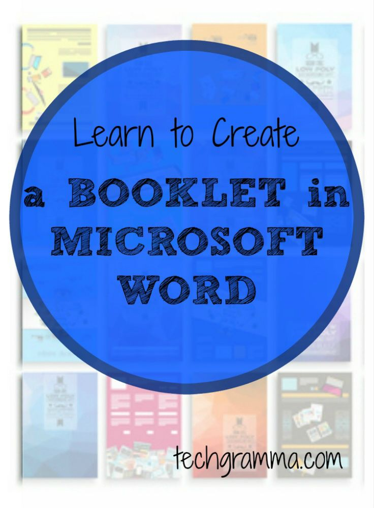 how to create a stapled booklet in word