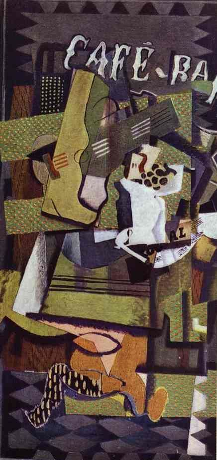 Cafe Bar, Oil On Canvas by Georges Braque (1882-1963, France)