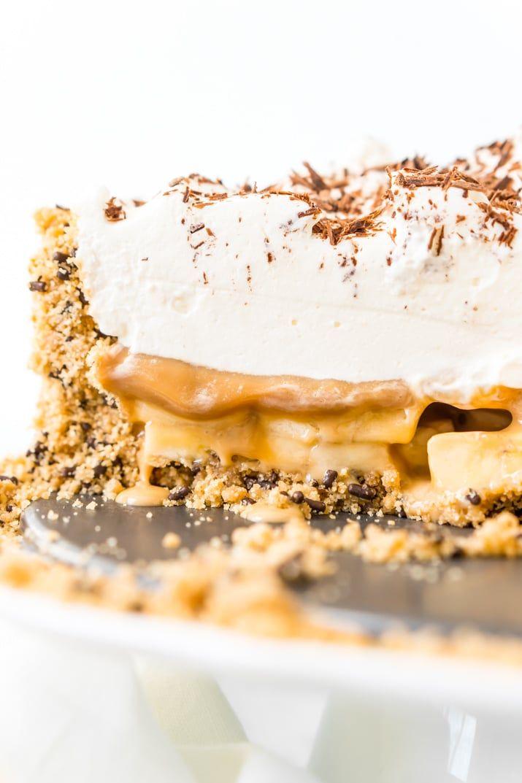 Banoffee Pie ist ein klassisches englisches Dessert mit Graham Cracker oder …