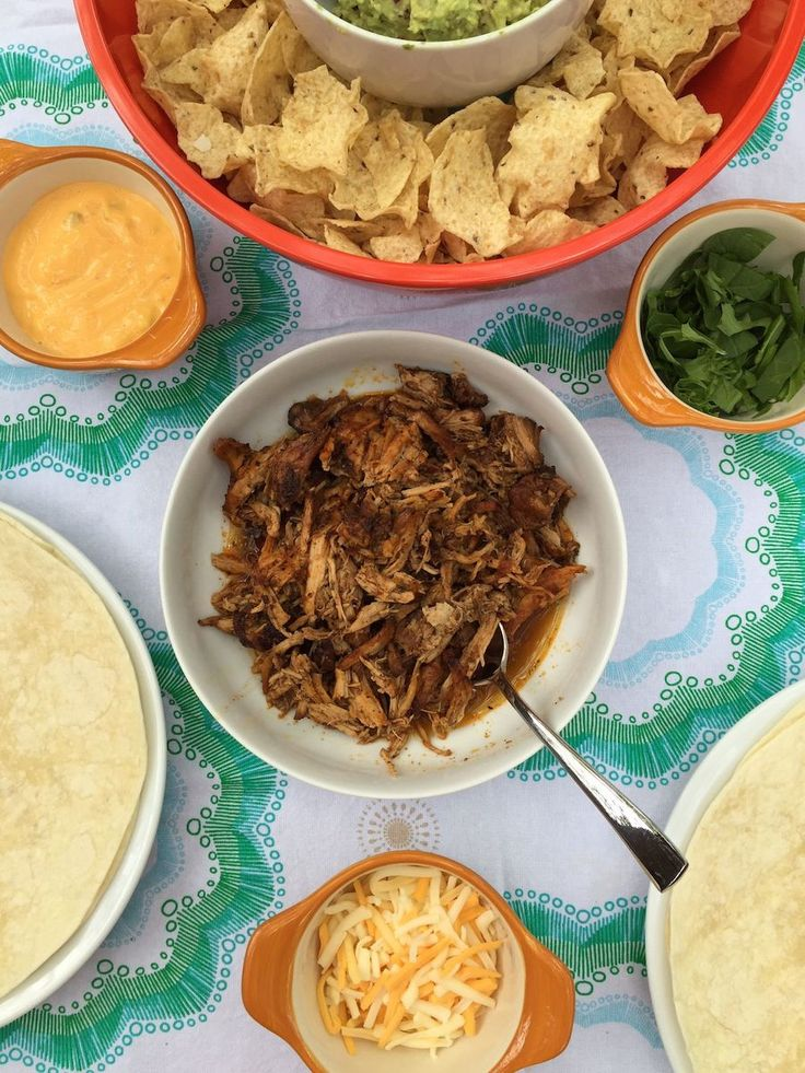 Easy Crockpot Carnitas Recipe for Cinco de Mayo, a Picnic or just anytime! | from Life Is Sweet As A Peach