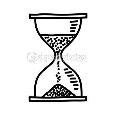 Dibujo de reloj de arena.