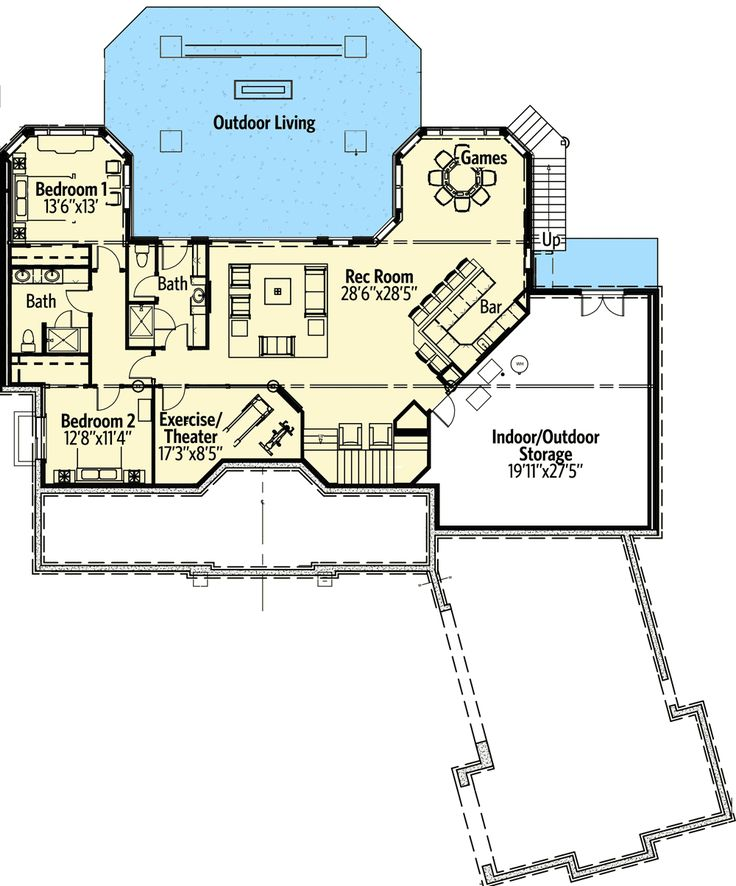 592 best basements images on pinterest basement floor for Basement suite plans